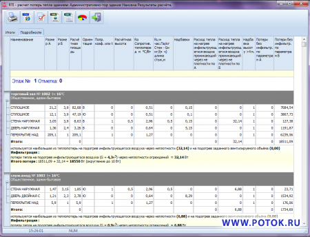RTI программа для  расчёта потерь тепла и инфильтрации помещениями зданий (теплопотерь), энергопаспорт здания